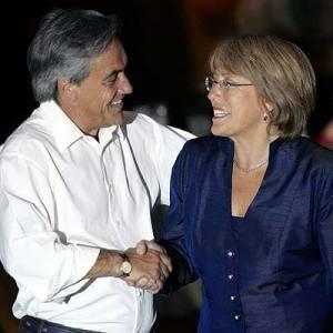 Piñera et Bachelet