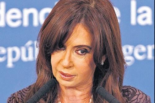 Cristina Kirchner lors de sa conférence de presse